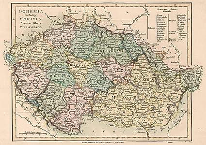 1800 Map Of The World.Amazon Com World Atlas 1800 Bohemia Including Moravia Austrian