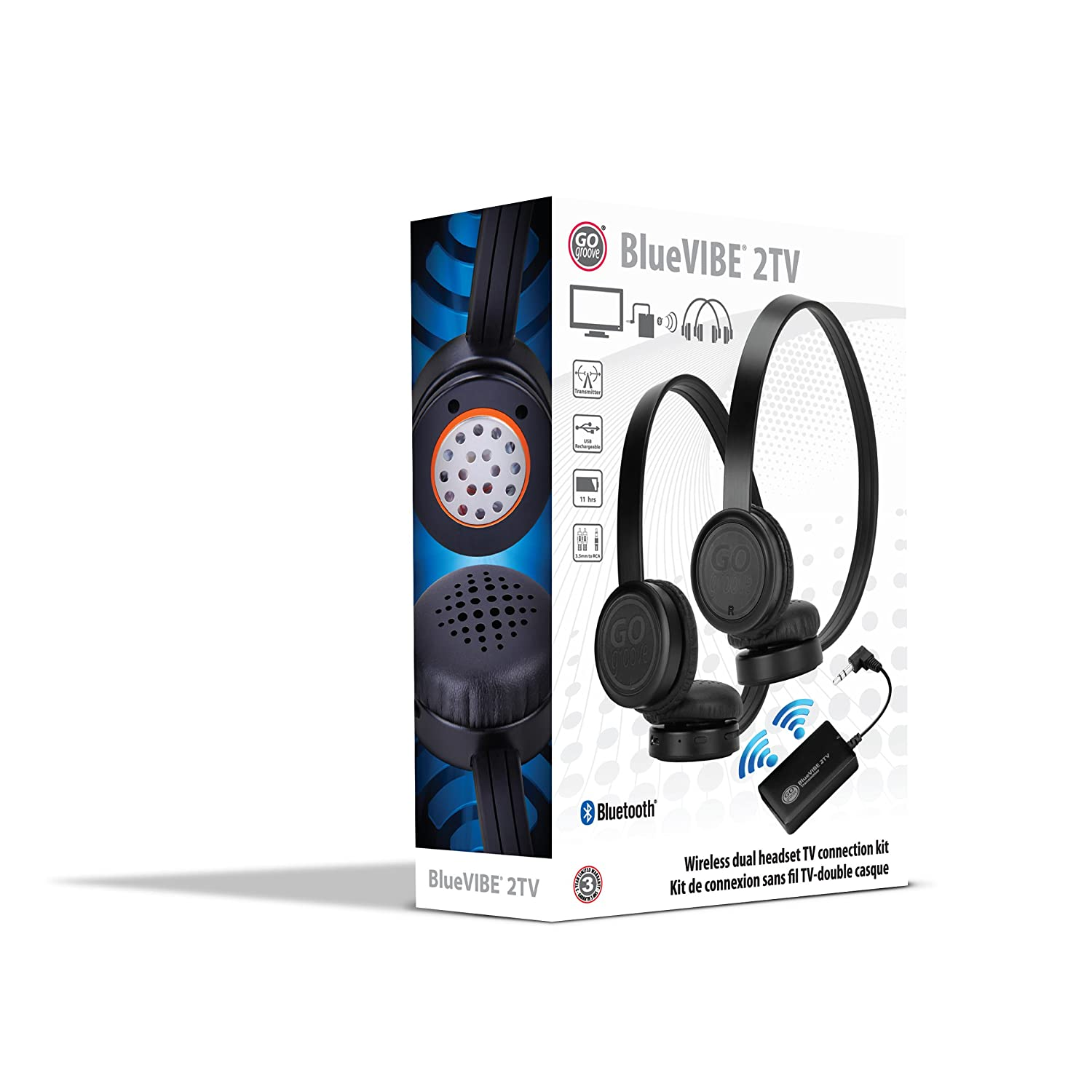 Gogroove Bluevibe 2 Tv Wireless 2 Pair Headphones Television