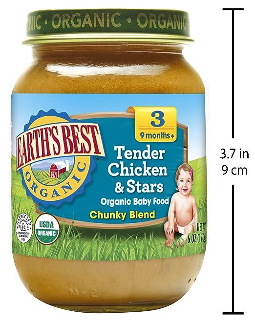 Amazon Earths Best Organic Stage 3 Baby Food Tender Chicken