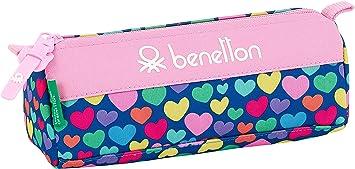Safta Estuche de Benetton Cuori Oficial Escolar, Multicolor: Amazon.es: Equipaje
