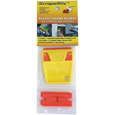 Hardline Products Scraperite Plastic Razor Blades with Holder: Automotive