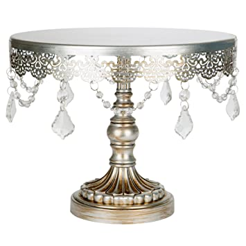 Amazon Com Sophia Collection Antique Silver Inch Cake Stand