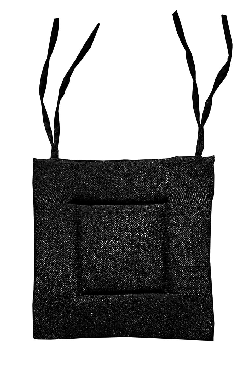 NOVUM fix Stuhlkissen Sitzkissen, ca. 40x40x3 cm * für Innen und Außen * Mehrere Farben (Schwarz)