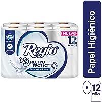 Papel Higiénico Regio Neutro Protect; libre de fragancia y Dermatológicamente Probado; 12 Rollos