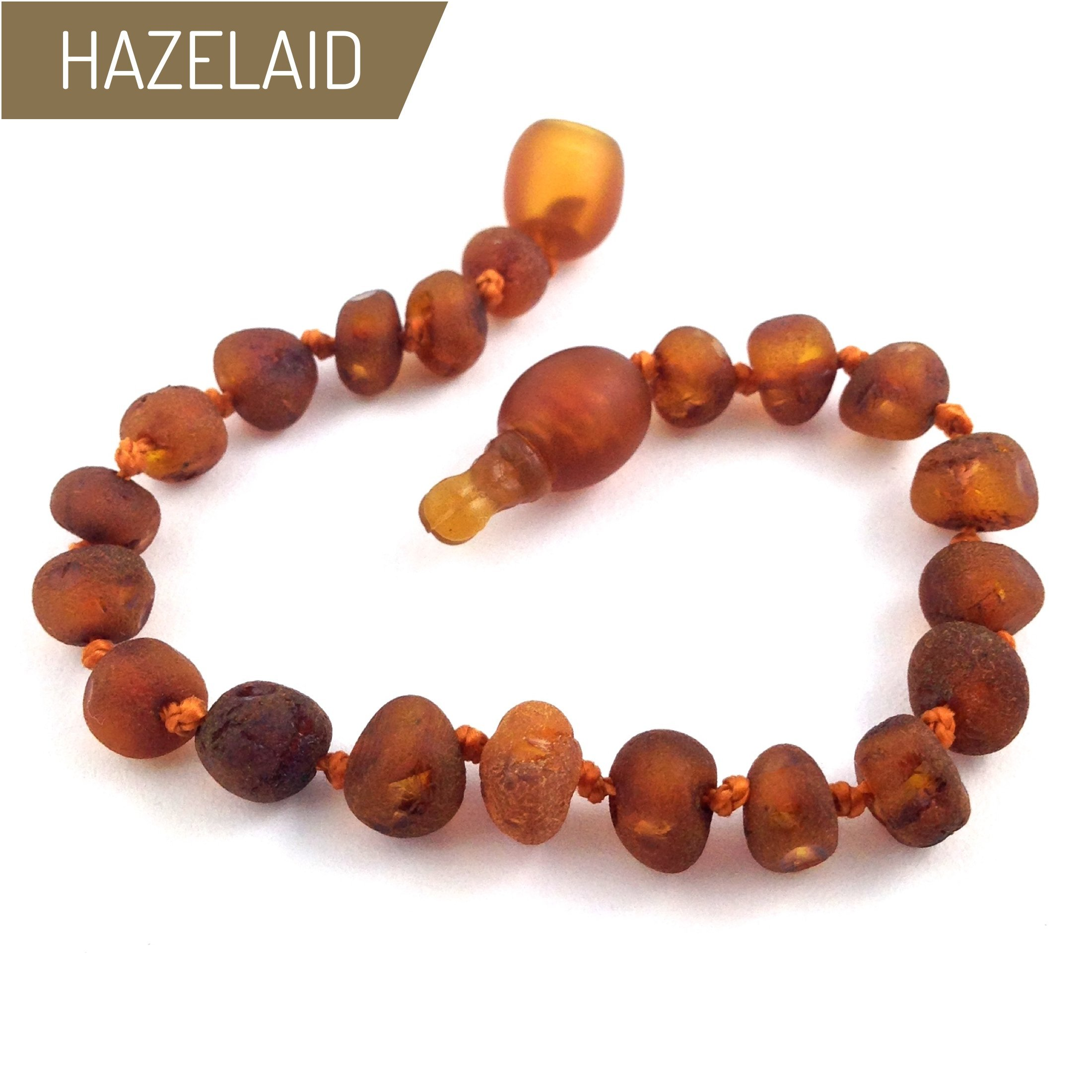 Hazelaid (TM) 5.5'' Pop-Clasp Baltic Amber Nutmeg Bracelet