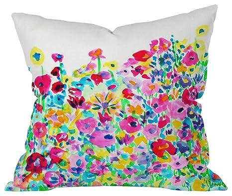 Amazon Com Deny Designs Amy Sia Ikat 2 Berry Outdoor Throw Pillow