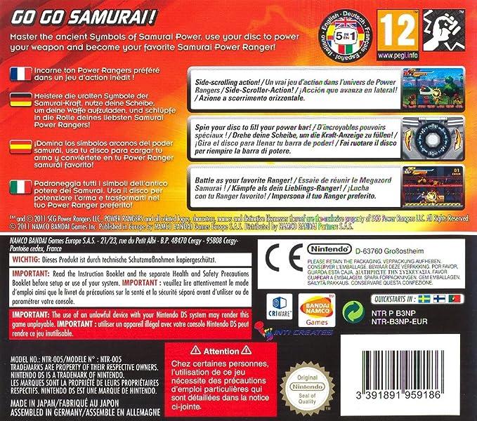 Power Rangers Samurai [Importación italiana]: Nintendo 3DS ...