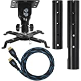 """Amazon Price History for:Cheetah Mounts APMEB Universal Projector Ceiling Mount Includes a 27"""" Adjustable Extension Pole and a Twisted Veins 15' HDMI Cable"""