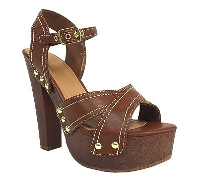 5cc425d2f Amazon.com | Delicious Elma! Women's Peep Toe Ankle-Strap Platform ...