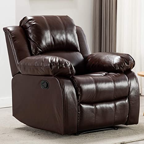 Wondrous Bonzy Home Air Leather Recliner Chair Overstuffed Heavy Duty Recliner Faux Leather Home Theater Seating Manual Bedroom Living Room Chair Gamerscity Chair Design For Home Gamerscityorg