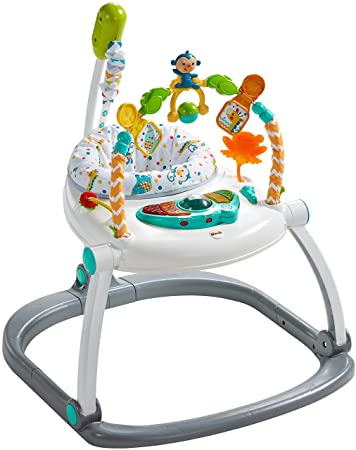 3ccc233417cf Amazon.com   Fisher-Price Colourful Carnival SpaceSaver Jumperoo   Baby
