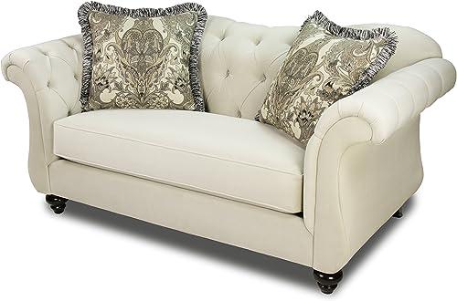 Furniture of America Ivorah Glamorous Love Seat