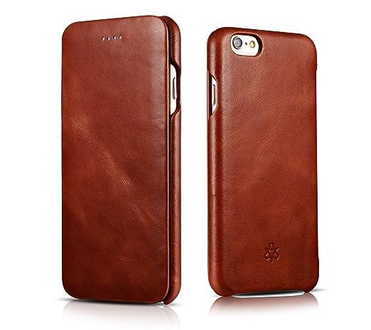 2 opinioni per Novada Custodia per iPhone 6 6S, Custodia a Flip in Vera Pelle per iPhone 6 6S-