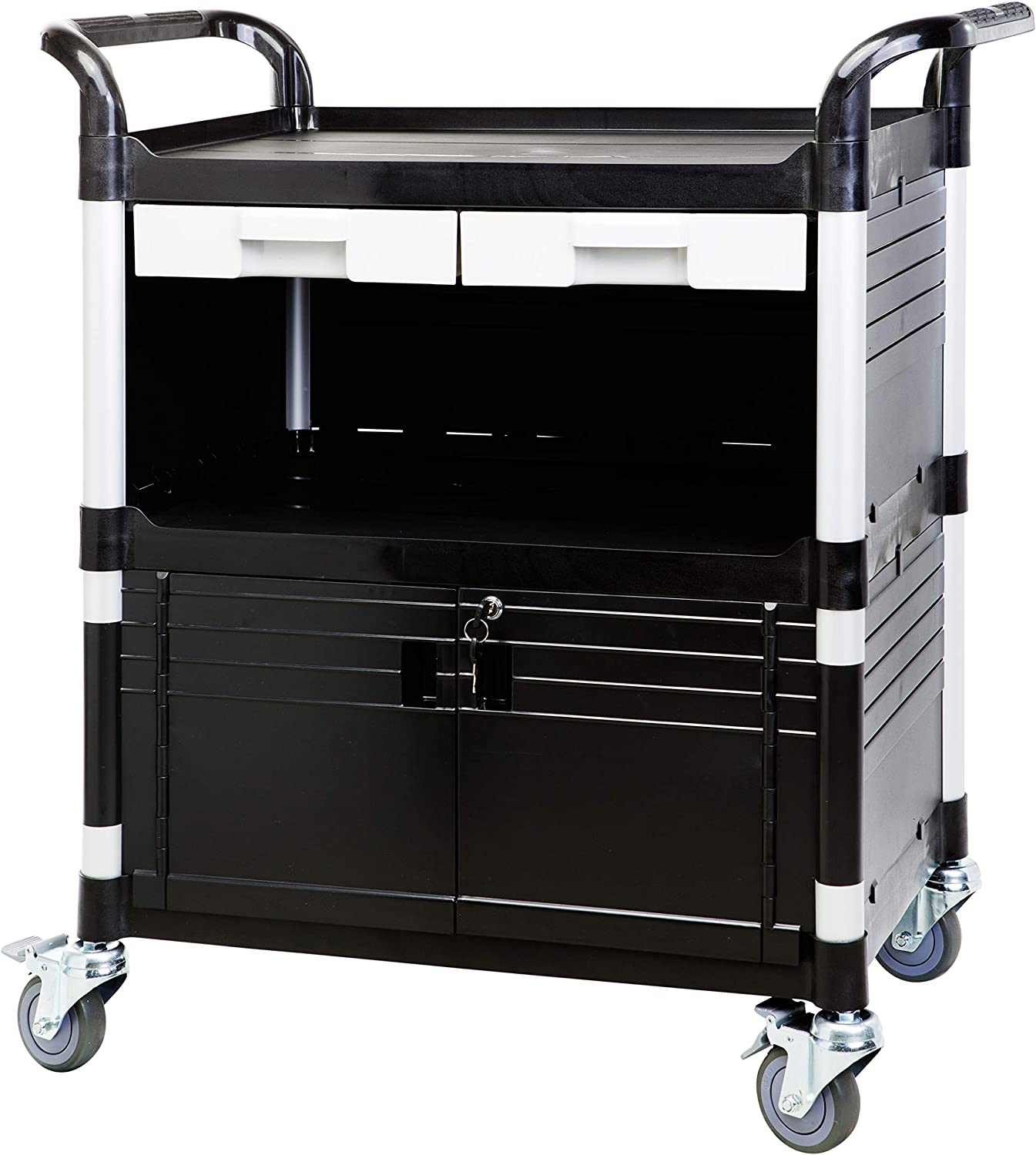JaboEquip Commercial Heavy Duty Utility Carts, 606 lbs Load Cap.for Lab and Hospitality