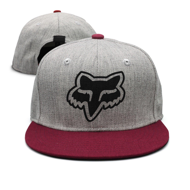 Kids Fox Logo Red Adjustable Snapback Hiphop Trucker Hats One Size