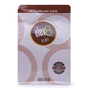 Elev8 Hemp Coffee - House Blend 12 oz