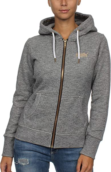 superdry jacke grau orange damen