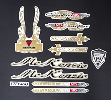 Aufkleber Fahrrad Rahmen Schriftzug Sticker Mc Kenzie Retro