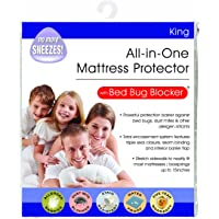Bed Bug Blocker Hypoallergenic All In One Breathable King Mattress Cover Encasement Protector Zippered Water Resistant Dust Mite Allergens Insects