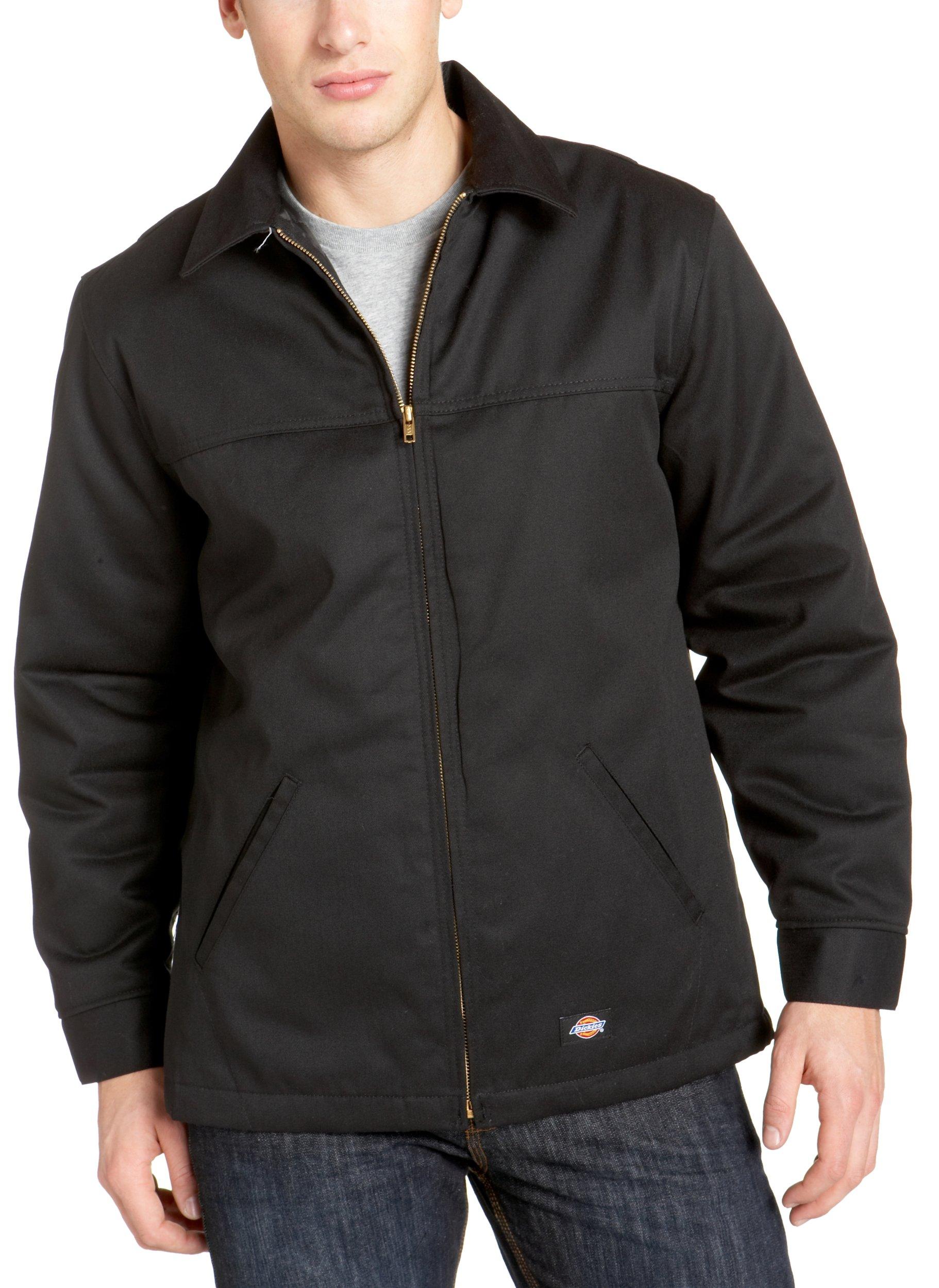 Dickies Men's Hip Length Twill Jacket, Black, Medium by dickies