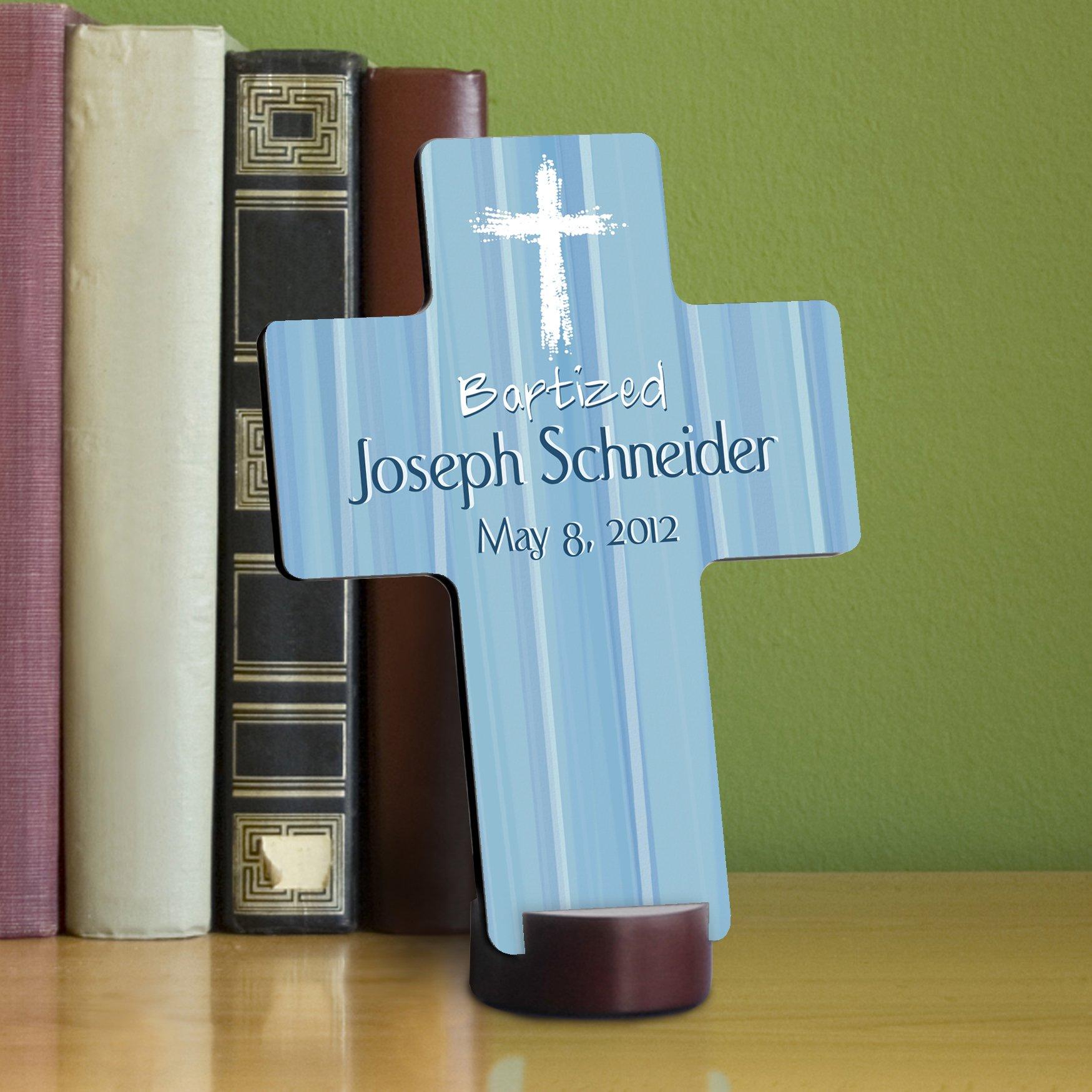Personalized Baptismal Cross - Hear my Prayer