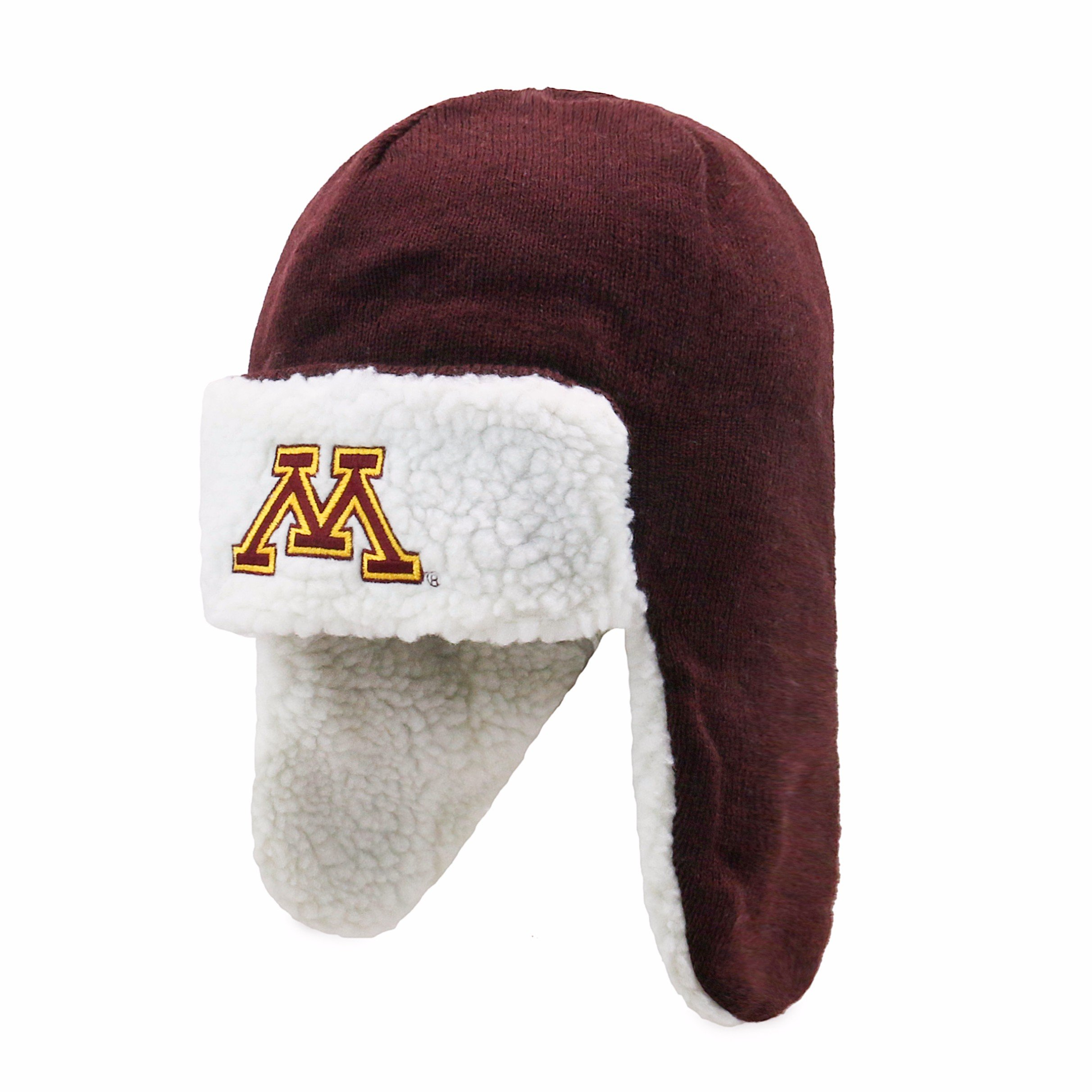 NCAA Men's Minnesota Golden Gophers OTS Breck Sherpa Hunter Knit Cap, One Size, Team Color by OTS