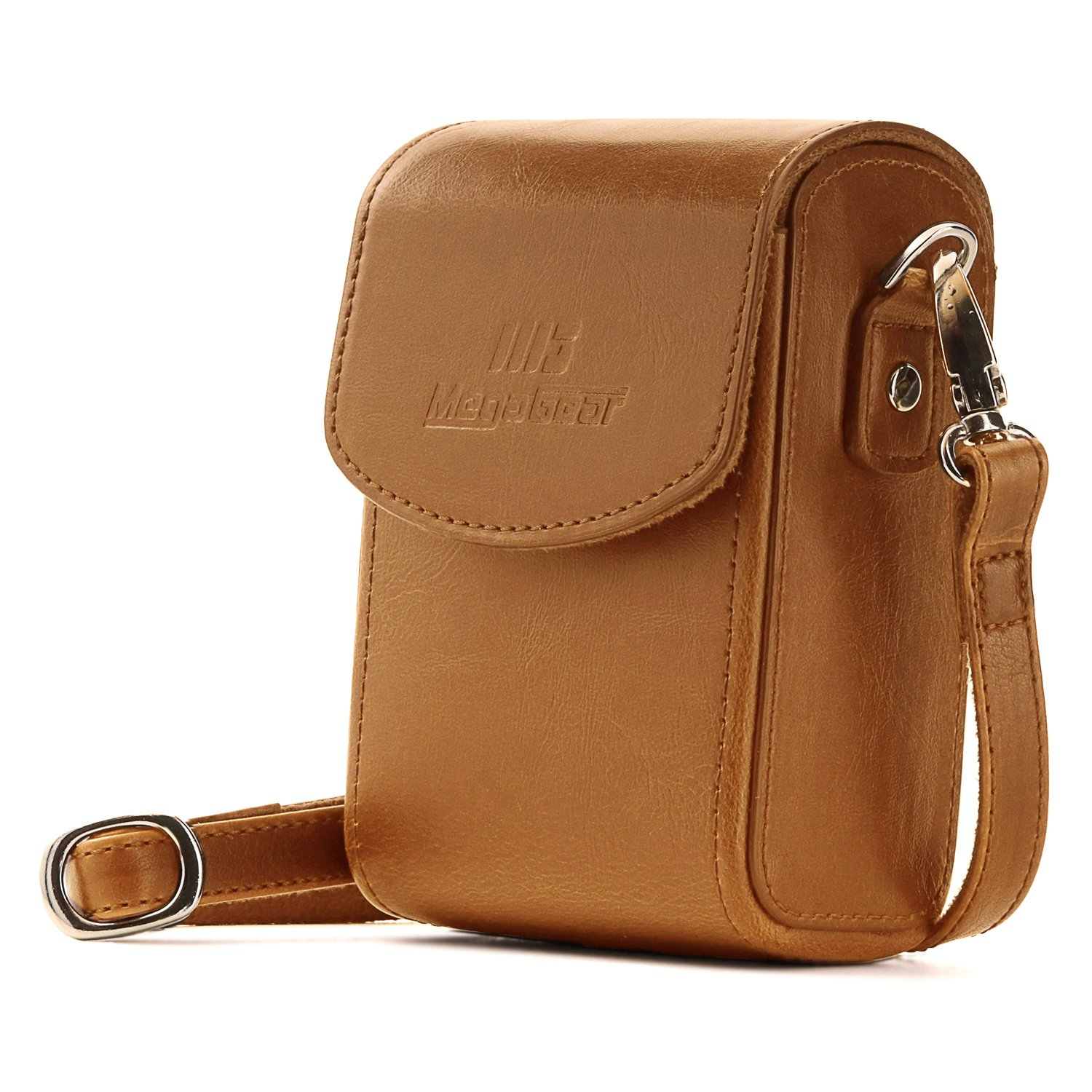 MegaGear MG1504 Canon PowerShot SX740 HS, SX730 HS Leather Camera Case with Strap - Light Brown MG1506