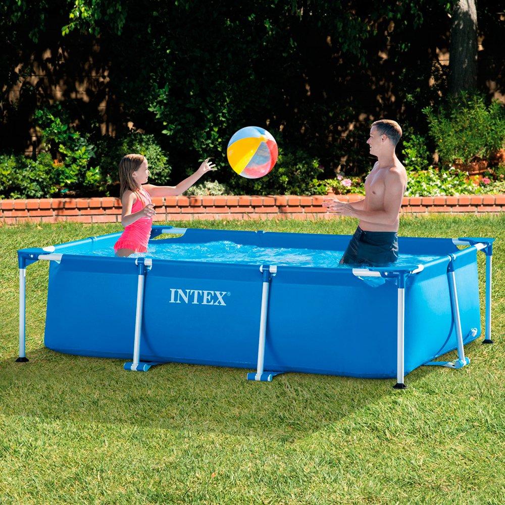 "Intex 86"" x 59"" x 23"" Rectangular Frame Above Ground Baby Splash Pool | 28270E"