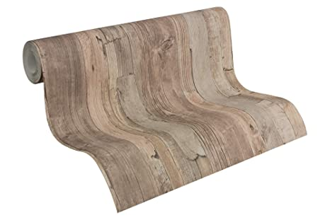 Vlies Tapete 8550-39 855039 Best of Wood/&Stone Holzoptik Beige  Blau