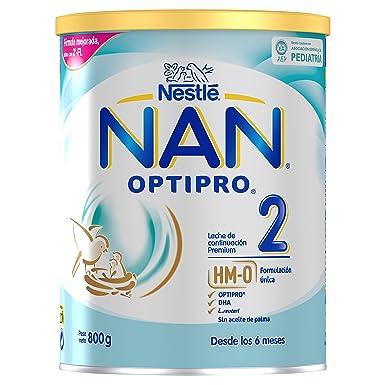 NAN OPTIPRO 2 - Leche de continuación en polvo - Fórmula para bebé - A partir de los 6 meses - 800g