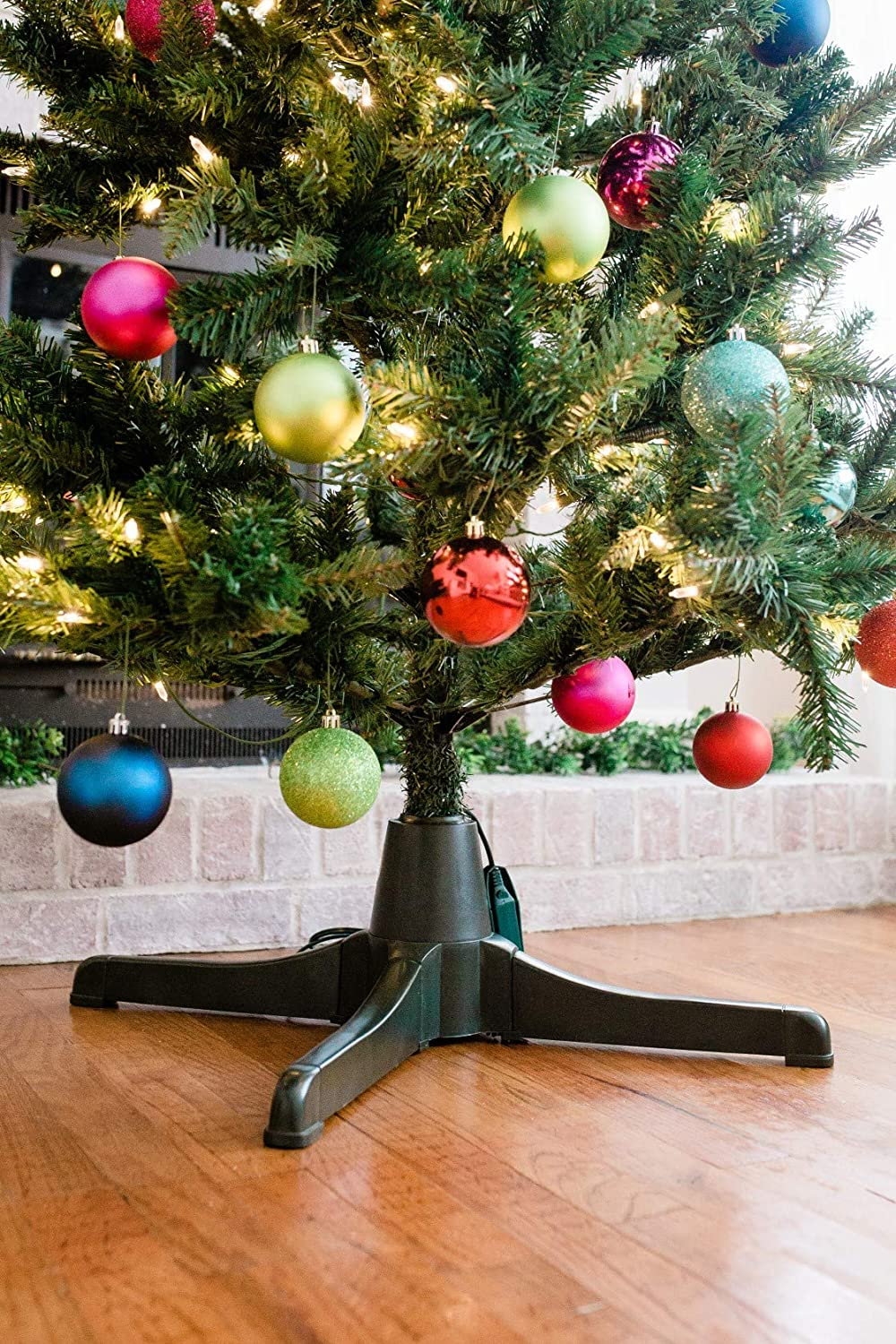 Amazon.com: Winter Wonder Rotating Christmas Tree Stand for Artificial Trees: Home \u0026 Kitchen