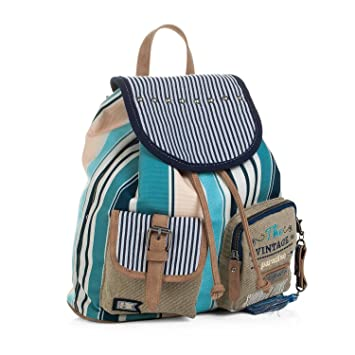 SKPAT - 92928 Backpack Casual Design. Shirred Closing with Flap. Upper  Handle and Adjustable