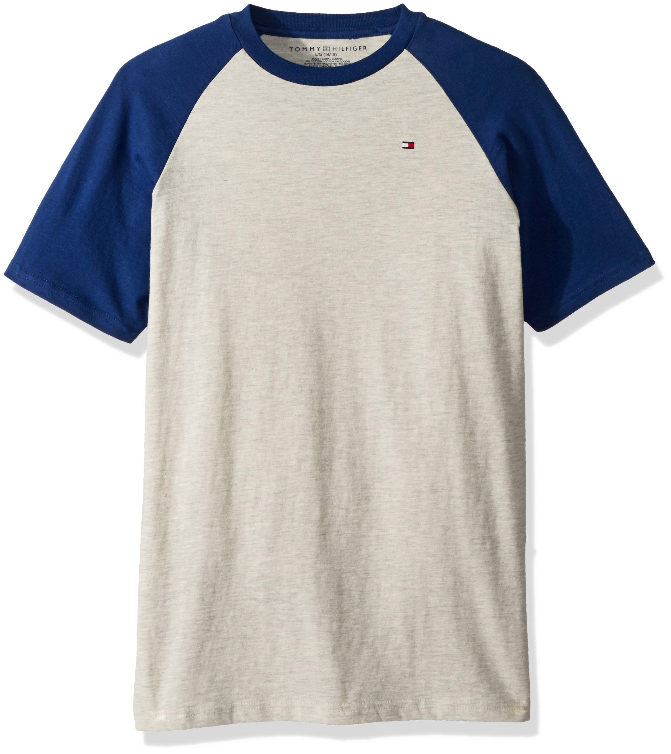 ff648f439ffa Galleon - Tommy Hilfiger Big Boys  Short Sleeve Raglan T-Shirt