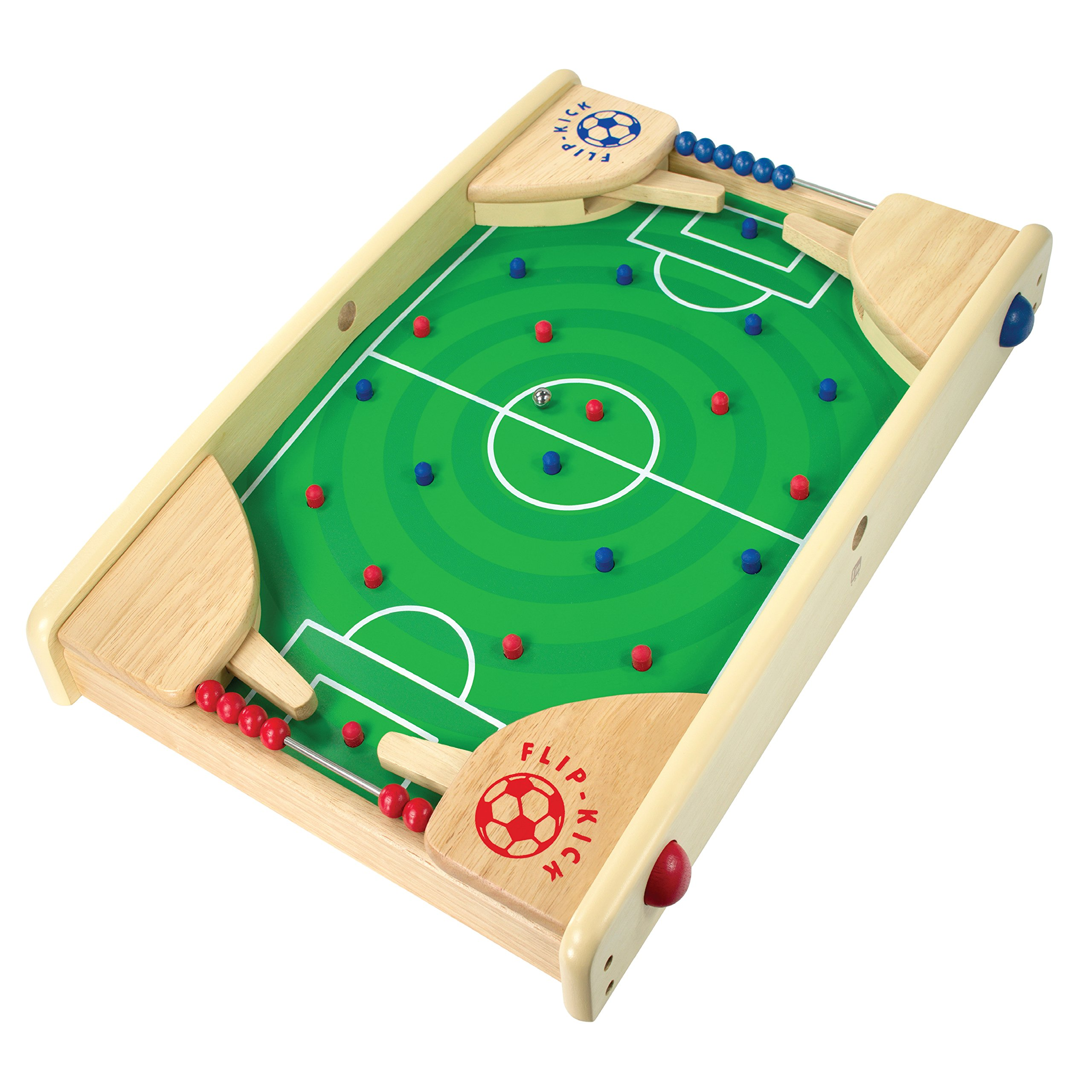 I/M Wooden Tabletop Football/Soccer Pinball Games, Indoor Portable Sport Table Board for Kids and Family