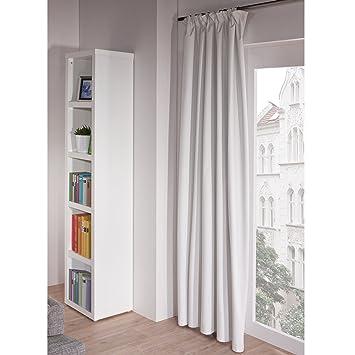 Vorhänge Verdunklung liedeco vorhang store rick weiß verdunkelung amazon de küche