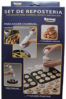 Bernar Churrera Churro Maker Hand Operated with 13 Nozzles Including Hollow Nozzle to Make Churros At