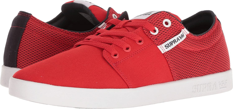 Supra Men's Stacks II Skate Shoe 8 M US|Risk Red/Navy-white