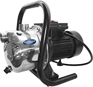 Superior Pump 96110 Stainless Steel 1 HP Portable Sprinkler Pump, Black