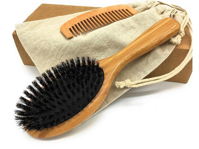 threeoflife boar bristle hair brush