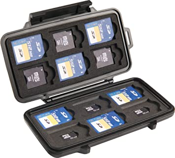 Amazon.com: Peli 910 Cases Yellow/Black Liner Sd Card, 0910 ...