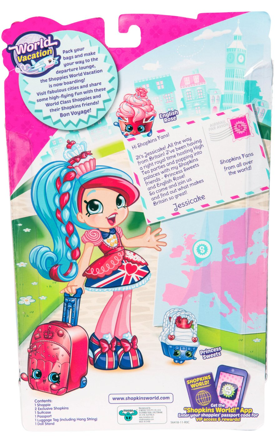 Amazon.com: Shopkins World Vacation (Europe) Shoppies Doll   Jessicake:  Shopkins: Toys U0026 Games
