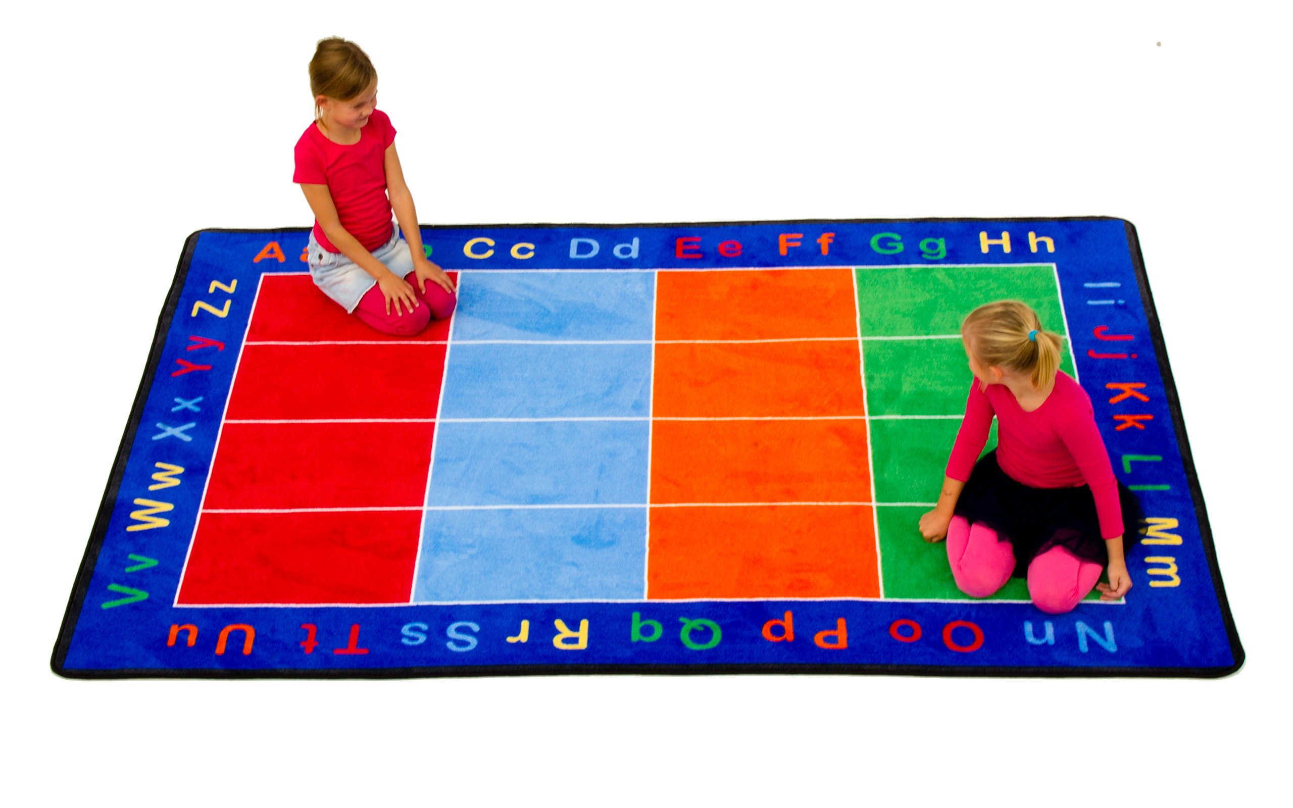 Learning Carpets CPR455 - Abc Squares Rectangle, Small