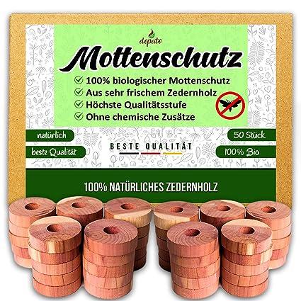 51x PREMIUM BIO Mottenschutz, 100% Reines Naturprodukt aus hoch Qualitativem Zedernholz, Natürliche Mottenfalle für den Kleid