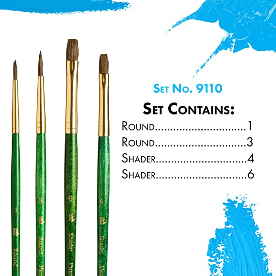 Super Valeur pièce 12 Artist Brush Set tailles 1-12 Centurion de marque
