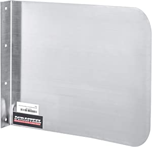 """DuraSteel Stainless Steel Side Splash Guard - 15"""" x 12"""" Wall Mount - For Commercial Usage - Hand Sinks and Compartment Prep Sinks - Sink Basin Safe Guard/Splatter Guard/Cross Contamination Sink Guard"""