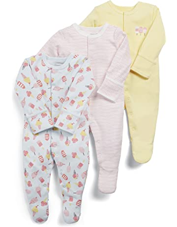 f4cea3bc3536 Mamas & Papas Baby Girls' Sleepsuit (Pack ...