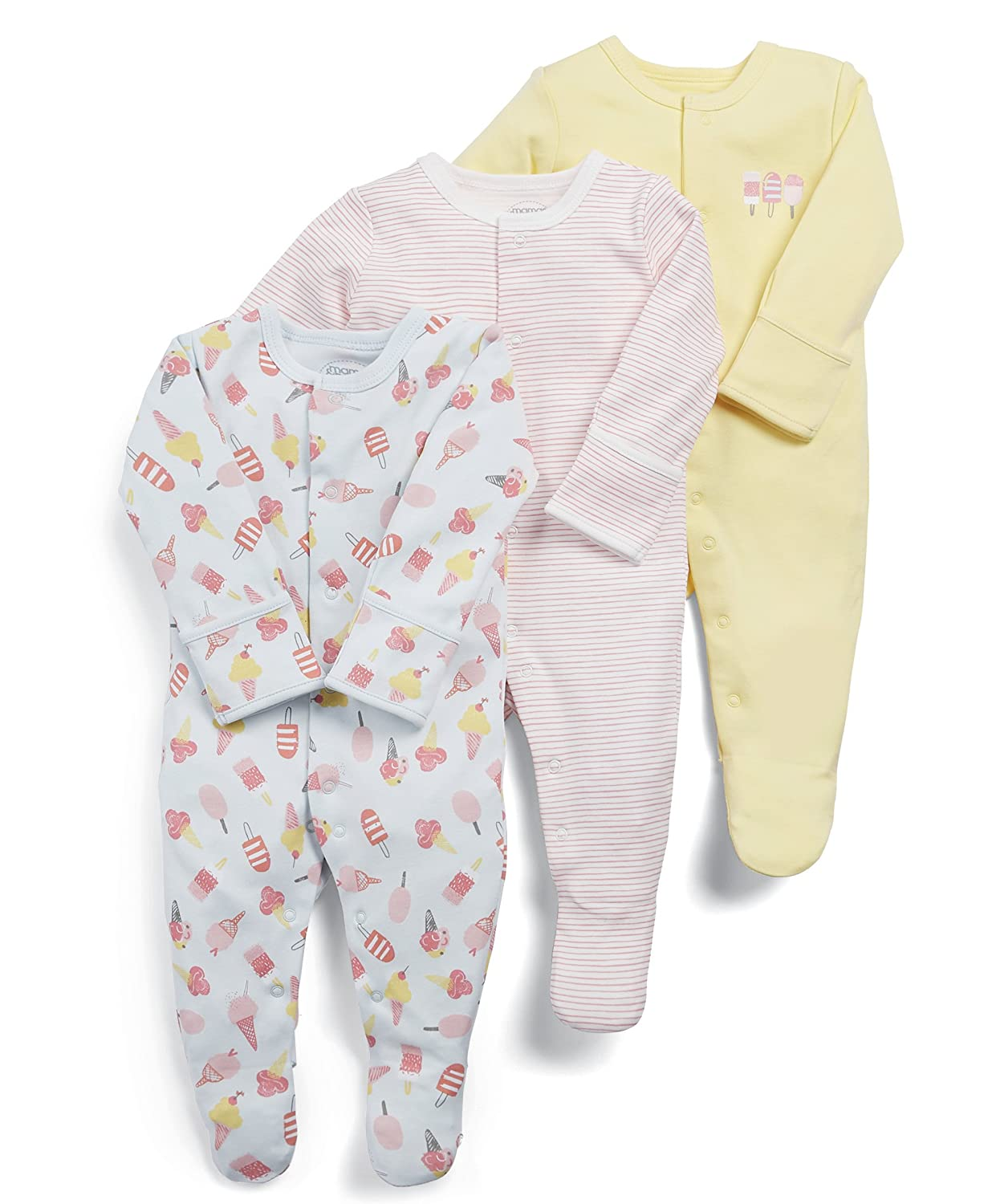 Mamas & Papas Baby Girls' Sleepsuit Pack of 3 Mamas and Papas