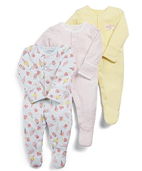 Mamas & Papas Pelele para Dormir para Bebés (Pack de 3): Amazon.es: Ropa y accesorios