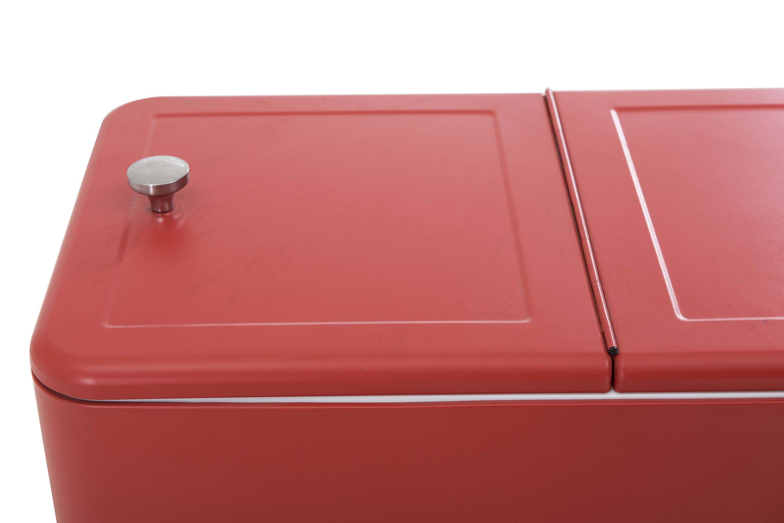 Sunjoy L-BC153PST 60 quart Wheeled Beverage Cooler in Red by sunjoy (Image #5)