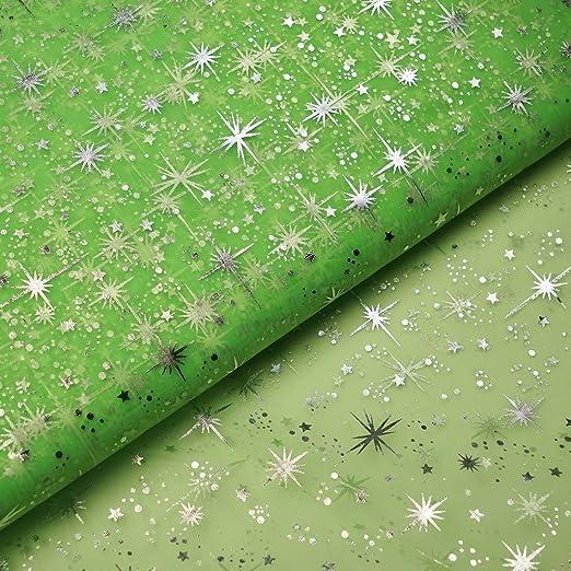 BalsaCircle Tela de tul con diseño de estrellas plateadas de 137 ...